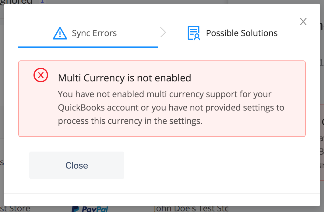 PayTraQer multicurrency issue