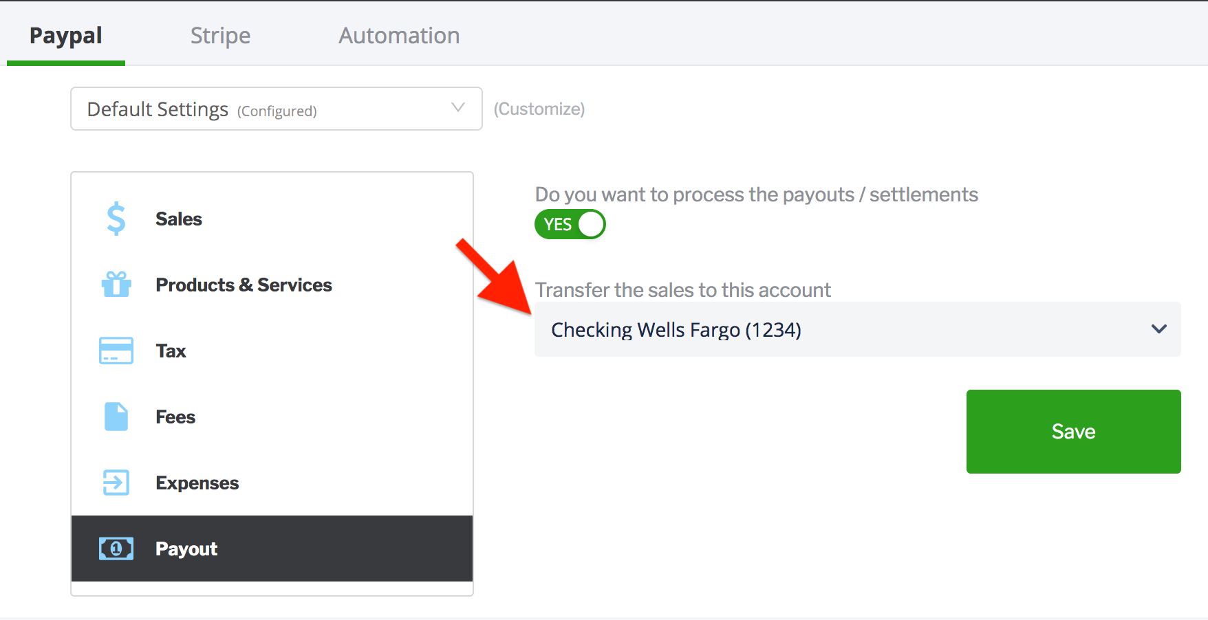 paytraqer paypal payment settings