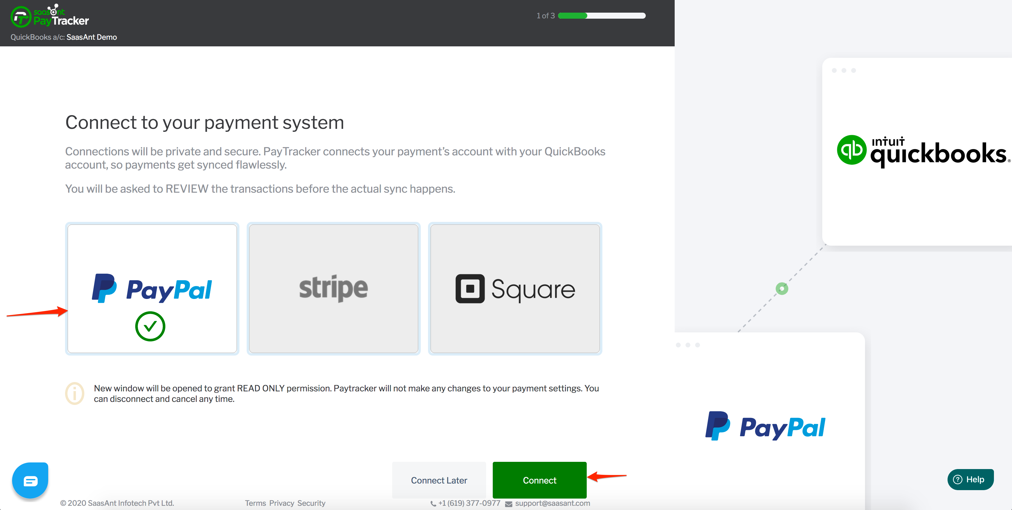 quickbooks and paypal integration