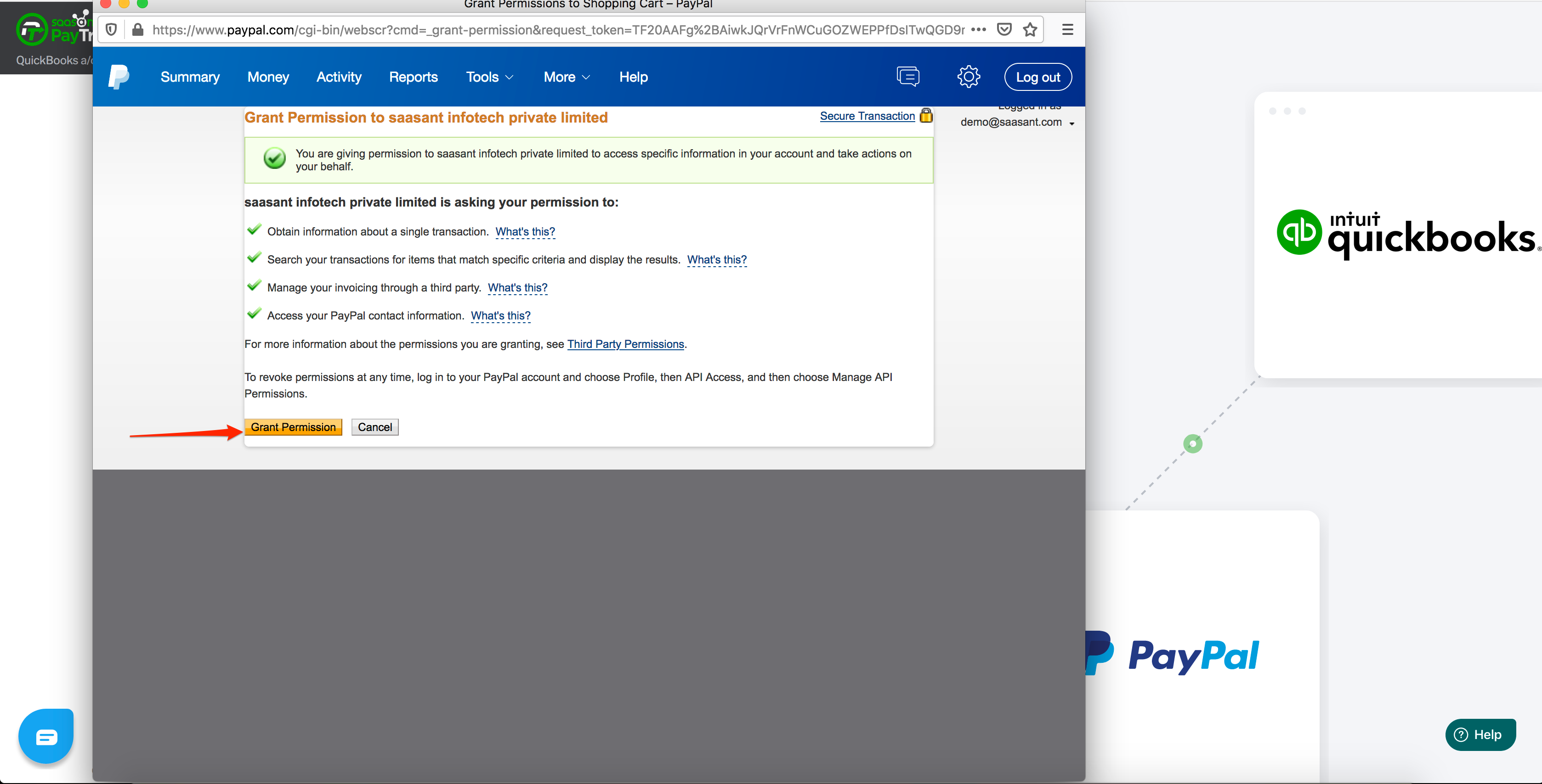 paypal and quickbooks integration