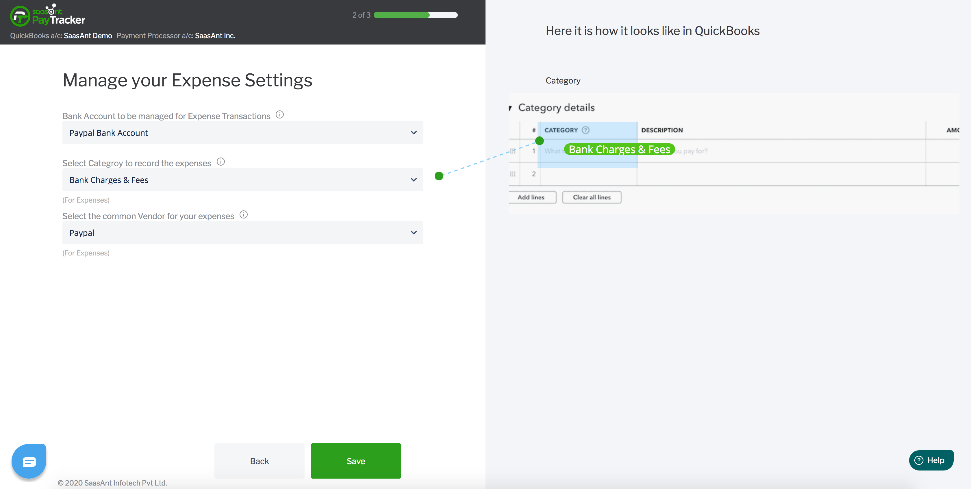 quickbooks paypal expense settings