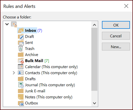 You can move items to an existing or new folder.