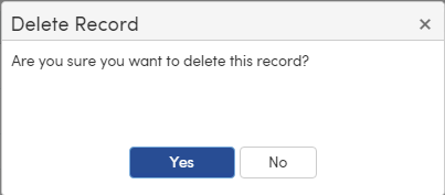 Confirmation to delete the course request
