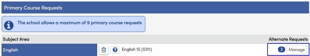 Alternate Requests