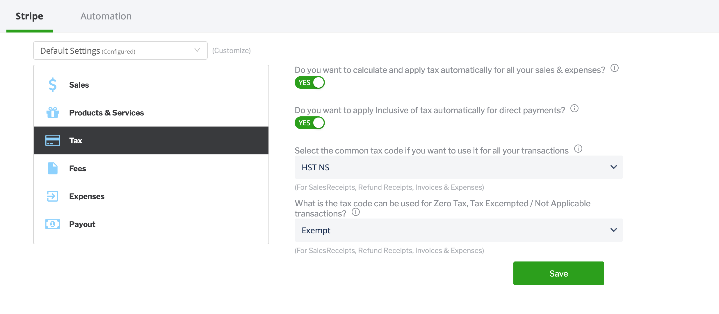 Add Tax to Stripe Payments