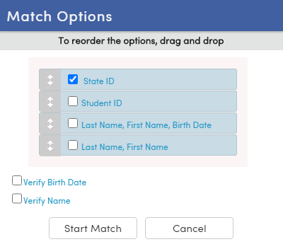 Match Options-California