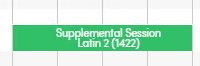 Past course displayed on separate line due to term not available at school