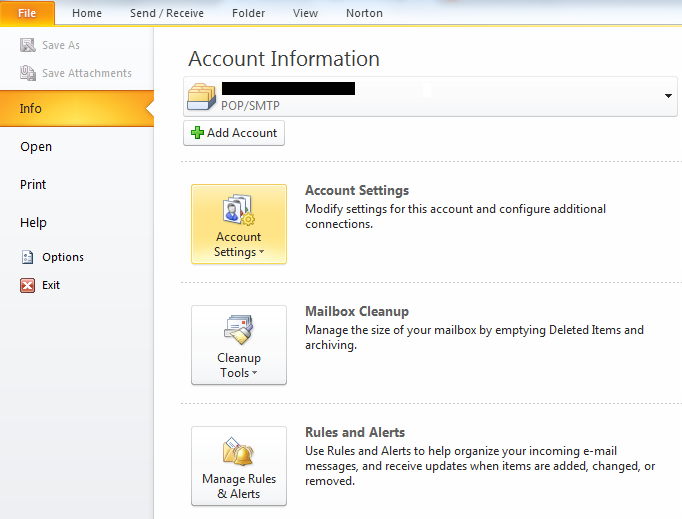 Account Information My CMS