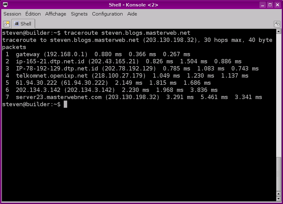 Traceroute My CMS