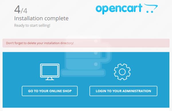 Cara install opencart step4