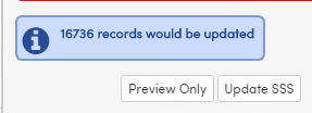 Notification at bottom of page of number of requests to be updated