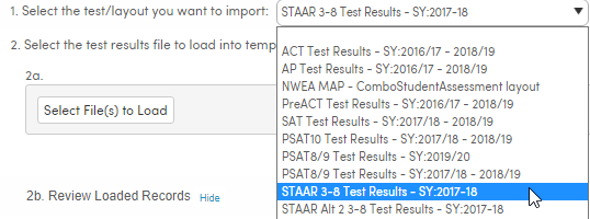 Select proper test layout