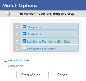 Match Options