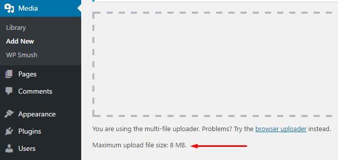 cara menambah kapasitas upload wordpress