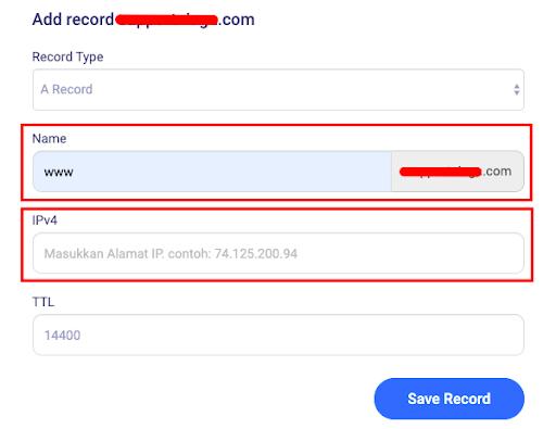 Save record