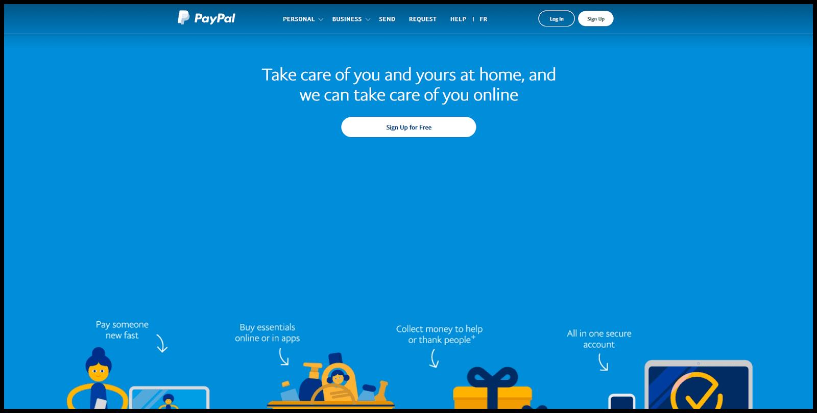 halaman web phising paypal