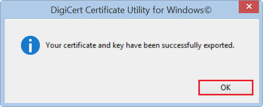 Select Certificate then click Export Button