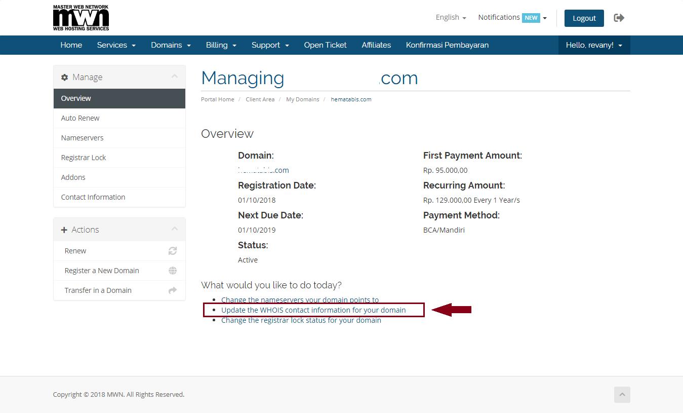 domain change My CMS