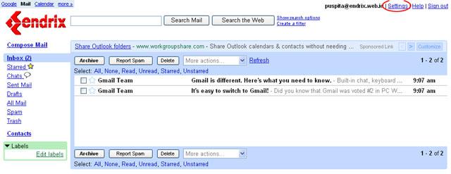 Webmail main My CMS
