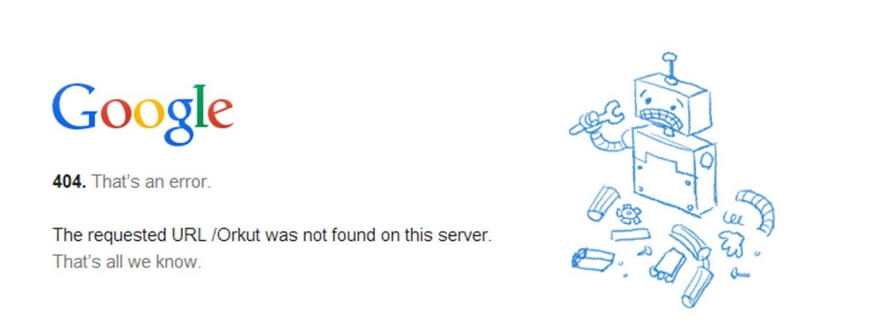 Error 404 di Chrome