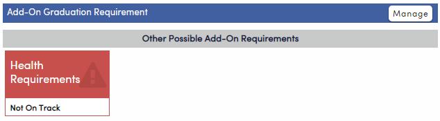 Add-On Graduation Requirement-California
