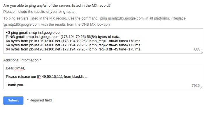 Whitelist gmail03 My CMS