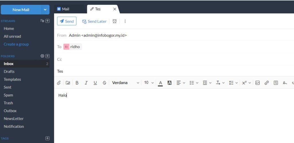 Kirim email dari email bisnis