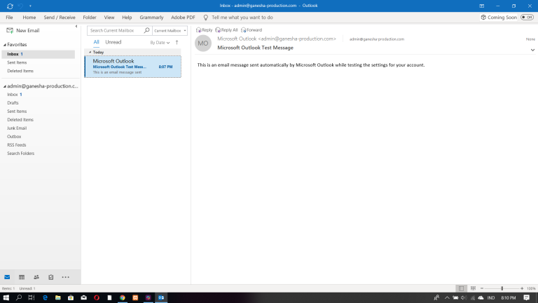 Interface Outlook 2016