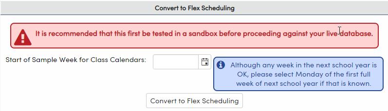 Convert to Flex Scheduling options