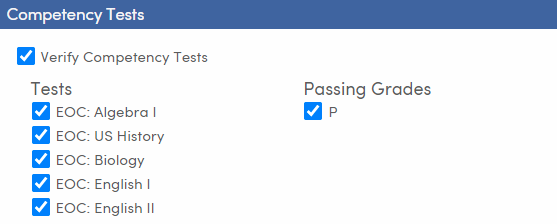 Mass Update Graduation Status - Setup and Load Students tab - Competency Tests - TX
