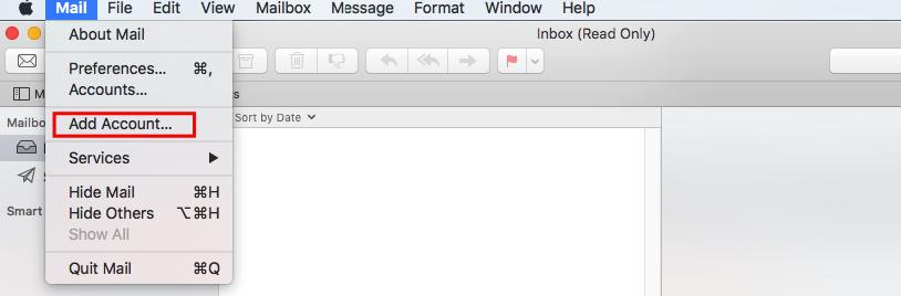 addakun email di mac mail