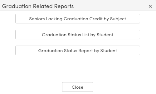 Mass Update Graduation Status - Graduation Related Reports button - TX