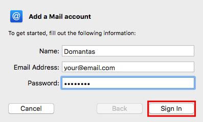 detail akun email