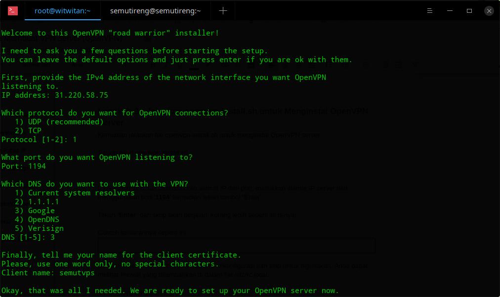 Cara membuat vpn server - 2