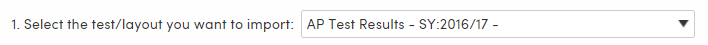 Import Test Results - Select File Layout