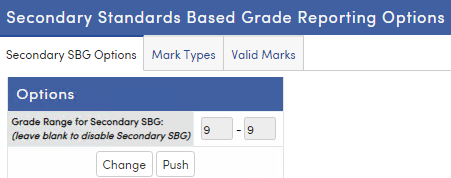 Secondary Standards Based Grade Reporting Options