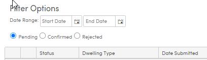 Residence Survey Audit Filter options
