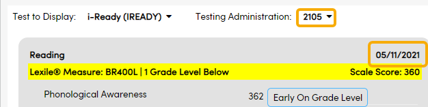 Test Details - Test Date and Testing Admin