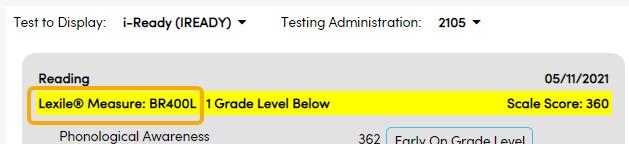 Test Details - Lexile