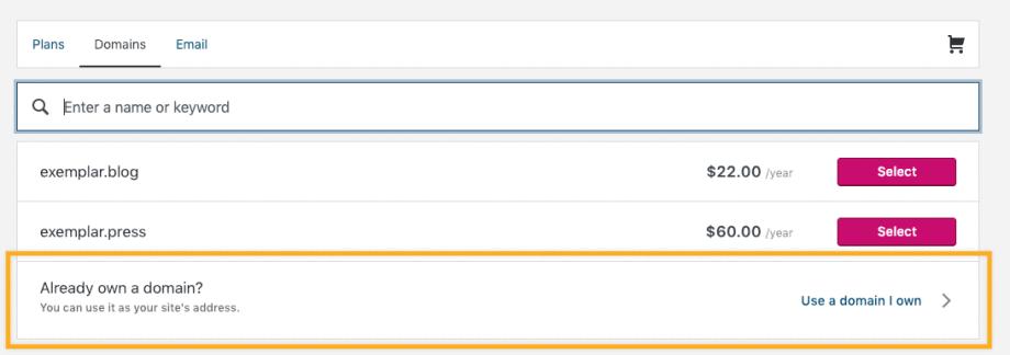 custom domain WordPress