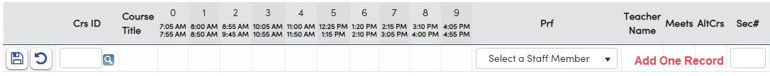Add one Course Request in Flex scheduling school