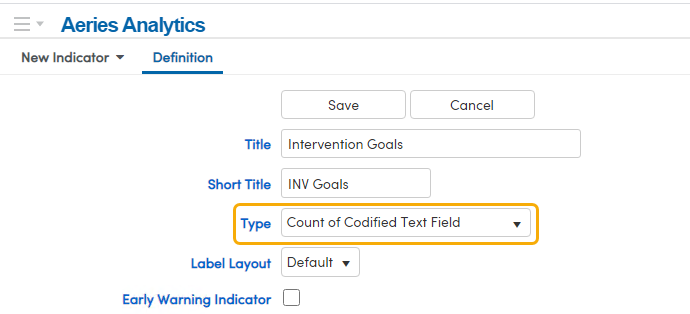 Indicator for Codified Text Field screenshot