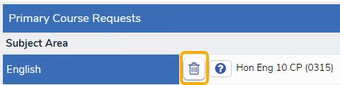Delete a course request