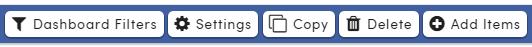 Analytics Dashboard buttons