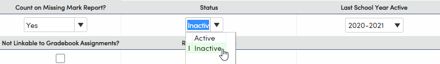 Standards - Inactivate a standard