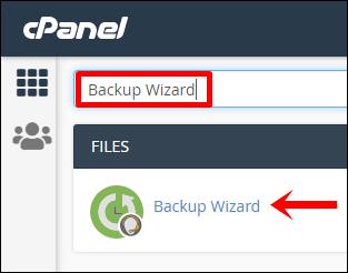 4 Ketik pencarian   Klik Backup Wizard (Edit)
