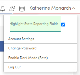 Account Settings menu