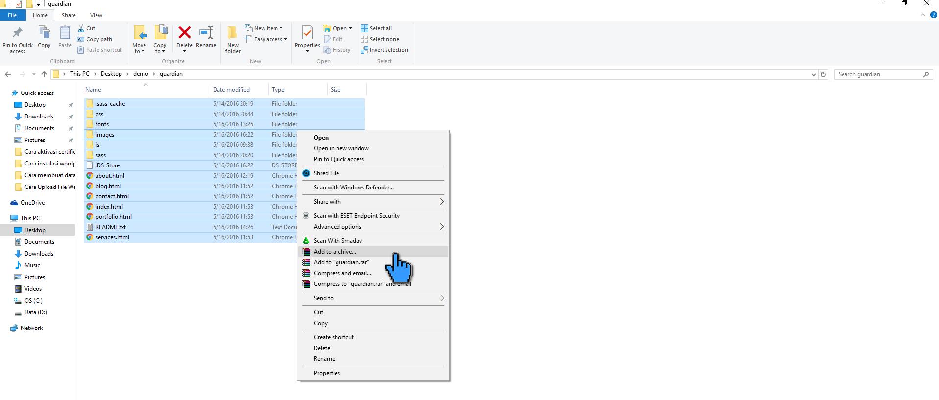 Cara Upload File Website ke Hosting di cPanel 6(tambahan) (pointer)