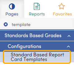 Standards Based Report Card Template