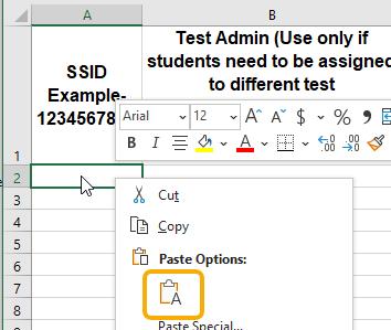 Excel - Paste